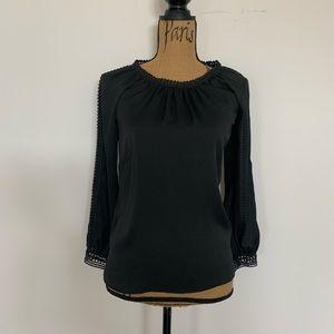Black blouse top by Loft